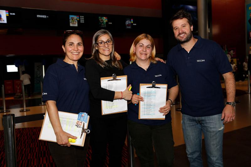 De izquierda a derecha: Soledad Díaz (Responsable de Fundación SECOM), Elena Pazos, Susana Rodríguez y Julio Ribas (Responsable Dpto. Marketing SECOM)