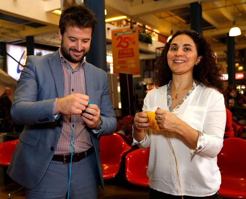 Julio Ribas (Responsable Dpto. Marketing SECOM) y Soledad Díaz (Responsable Fundación SECOM)