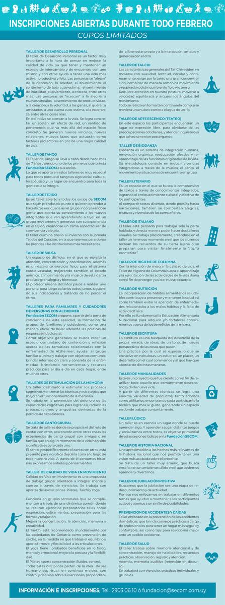 Talleres Fundación SECOM 2020